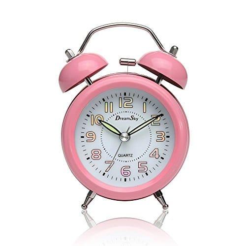 DreamSky 3 Zoll Mini Doppelglockenwecker pink